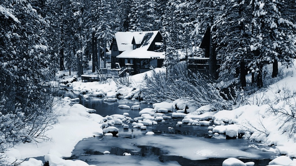 House In Winter Forest wallpapers HD