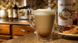 Latte With Syrup High Quality Wallpaper