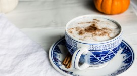 Latte With Syrup Wallpaper Download