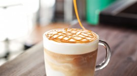 Latte With Syrup Wallpaper HQ