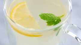 Mint With Lemon Wallpaper Free