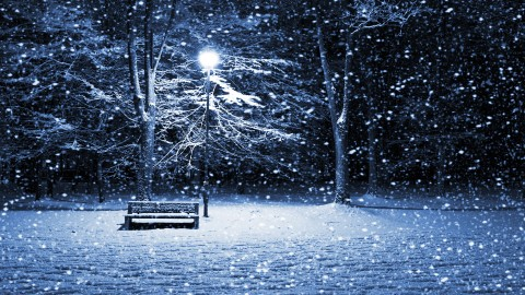 Park Bench Snow wallpapers high quality