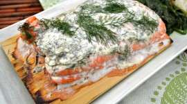 Salmon In Sauce High Quality Wallpaper