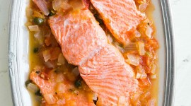 Salmon In Sauce Wallpaper For IPhone 6