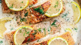 Salmon In Sauce Wallpaper For IPhone Download