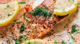 Salmon In Sauce Wallpaper For IPhone Free