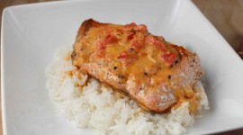 Salmon In Sauce Wallpaper High Definition