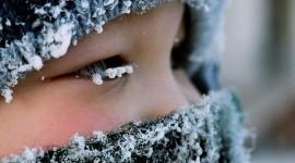 Snowflakes On Eyelashes Photo