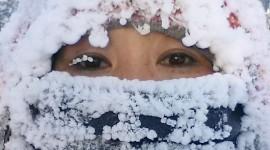 Snowflakes On Eyelashes For IPhone#1