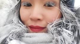 Snowflakes On Eyelashes Wallpaper For Mobile