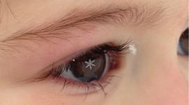 Snowflakes On Eyelashes For Mobile#1