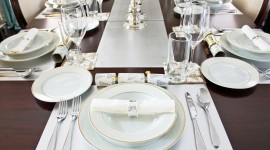 Table Setting Wallpaper Background