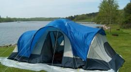 Tent Overnight Desktop Wallpaper