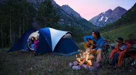 Tent Overnight Wallpaper