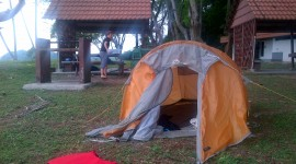 Tent Overnight Wallpaper Background