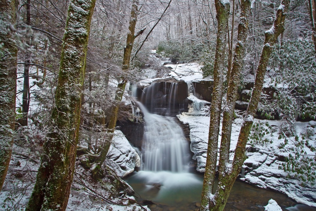 Winter Waterfall wallpapers HD