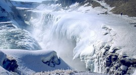 Winter Waterfall Photo