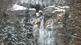 Winter Waterfall Photo Download