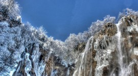 Winter Waterfall Photo Free