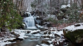 Winter Waterfall Wallpaper Gallery