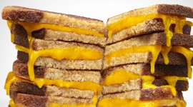 4K Cheese Sandwich Wallpaper Download