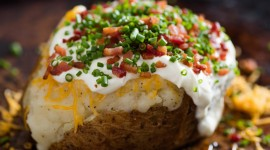 Baked Potatoes With Filling Wallpaper