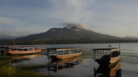Batur Volcano Wallpaper Background