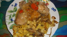 Chicken Fricassee Wallpaper Background