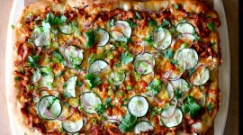 Chicken Squash Pizza Wallpaper Background