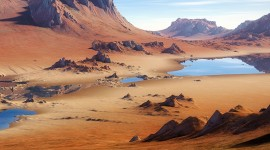 Desert Mountains Wallpaper For IPhone