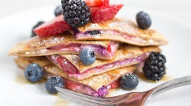 French Toast With Berries Wallpaper Download