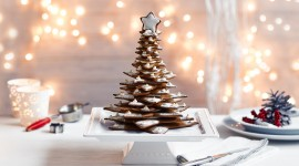 Gingerbread Trees Wallpaper