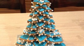 Gingerbread Trees Wallpaper For IPhone