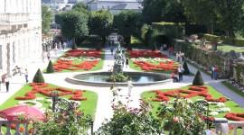 Mirabell Gardens Desktop Wallpaper HD