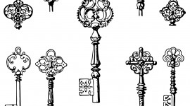 Old Keys Wallpaper For IPhone Free