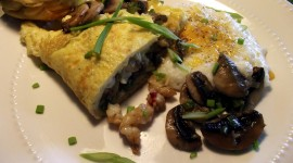 Omelet With Mushrooms Desktop Wallpaper HD