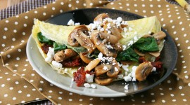 Omelet With Mushrooms High Quality Wallpaper