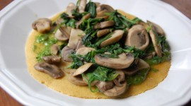 Omelet With Mushrooms Wallpaper Free
