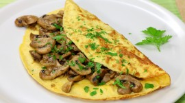 Omelet With Mushrooms Wallpaper HQ