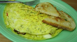 Omelet With Mushrooms Wallpaper High Definition