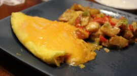Omelet With Sour Cream Desktop Wallpaper Free