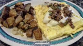 Omelet With Sour Cream Desktop Wallpaper HD
