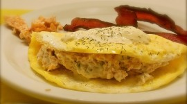 Omelet With Sour Cream High Quality Wallpaper