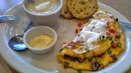 Omelet With Sour Cream Wallpaper Full HD