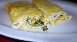 Omelet With Sour Cream Wallpaper High Definition