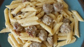 Pasta With Sausage And Cheese Wallpaper 1080p