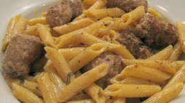 Pasta With Sausage And Cheese Wallpaper For IPhone Free