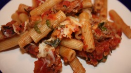 Pasta With Sausage And Cheese Wallpaper For PC