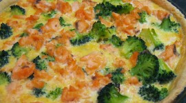 Salmon With Broccoli Wallpaper For PC