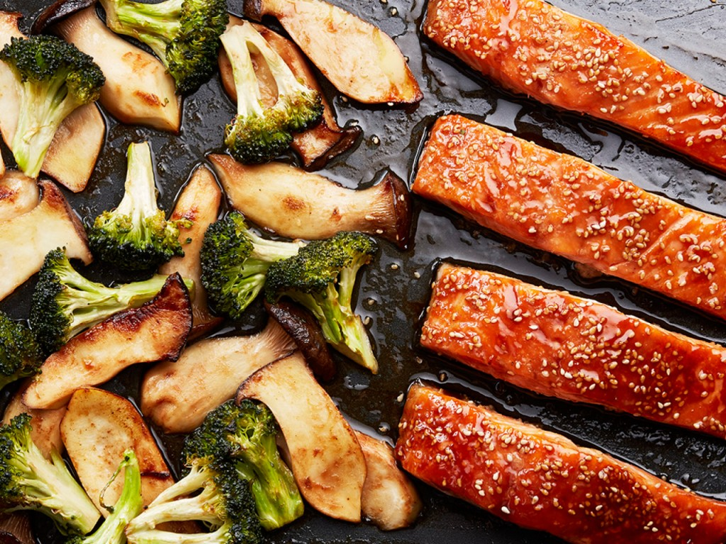 Salmon With Broccoli wallpapers HD